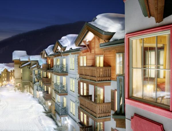 Sun Peaks Residences Exterior in Winter