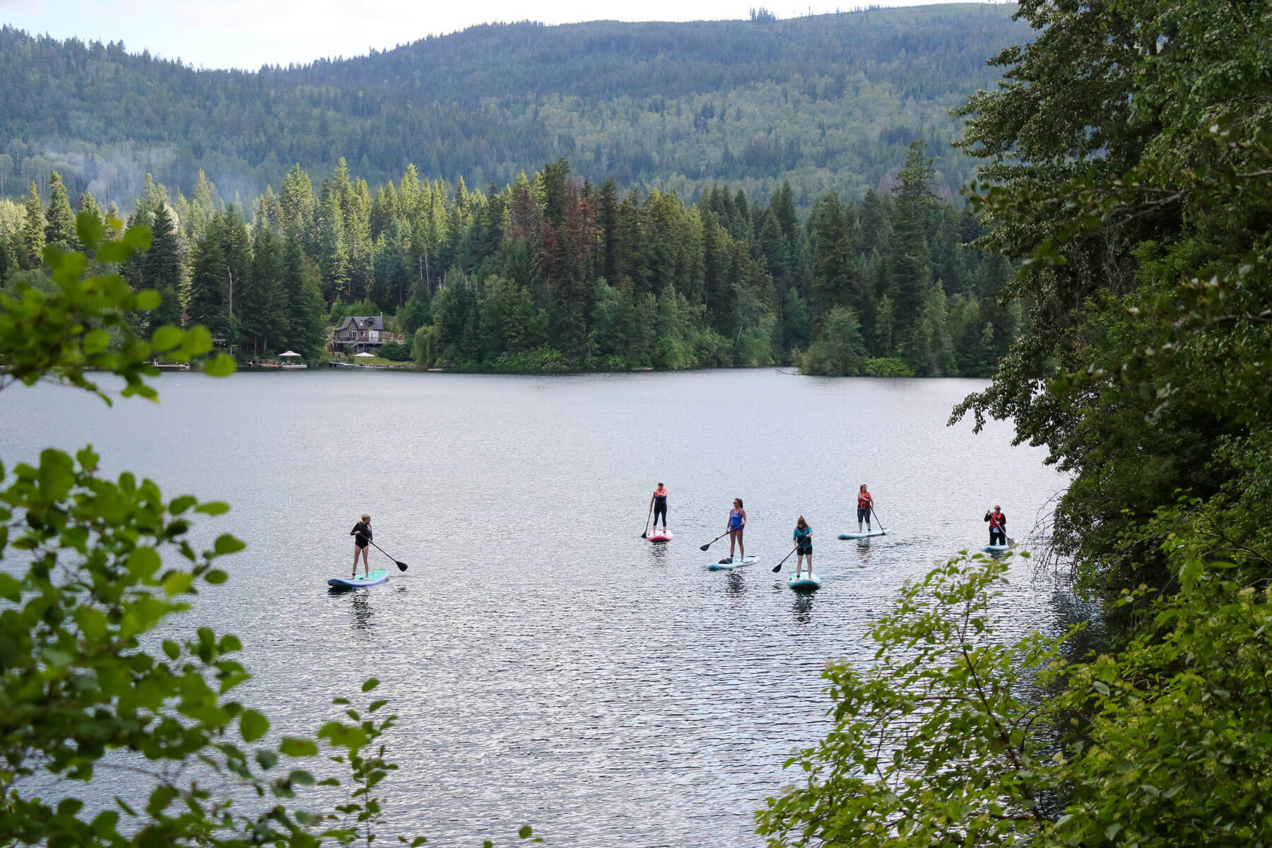 Stand Up Paddleboarding at Sun Peaks Resort