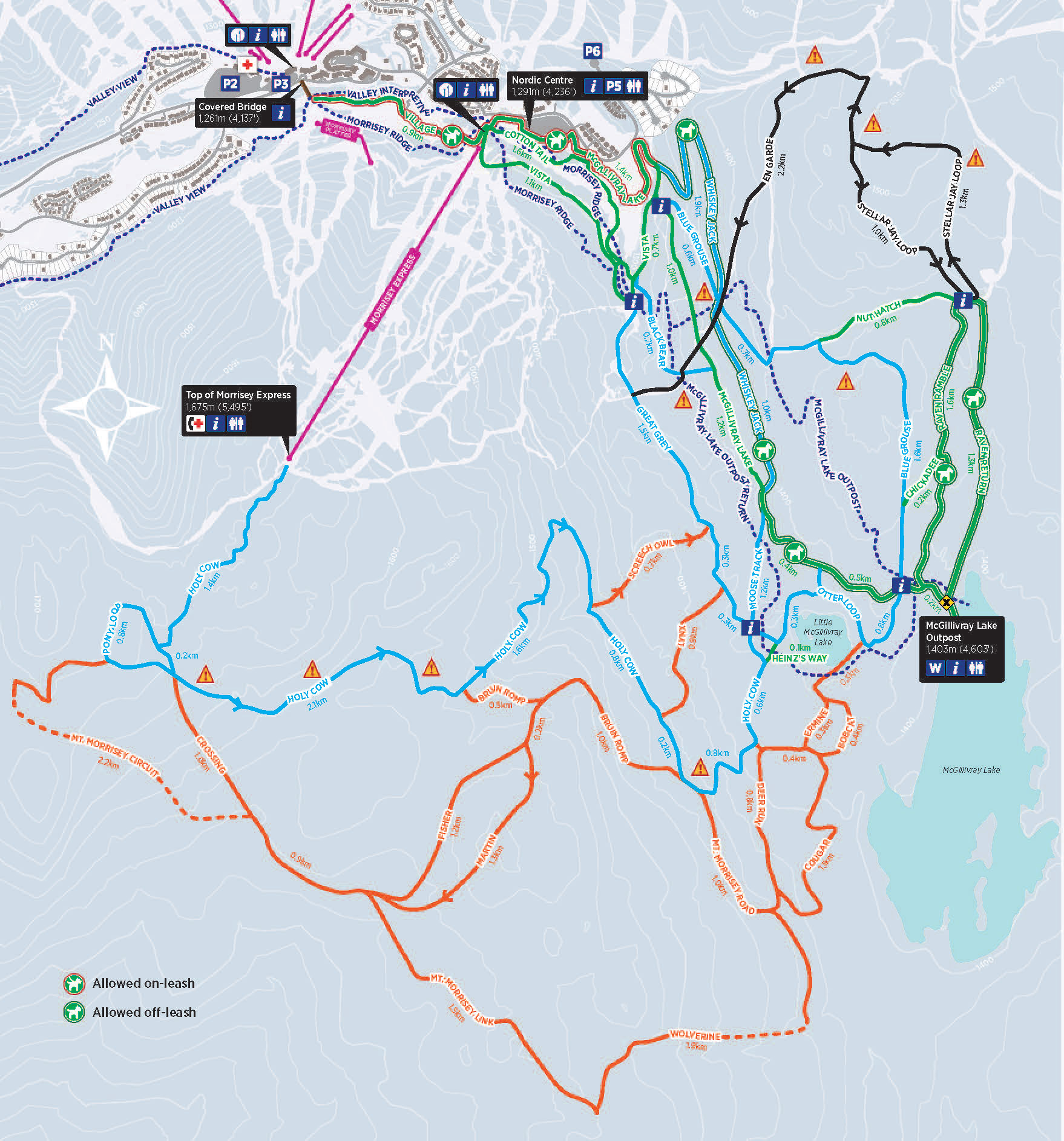 Nordic Trail Map 2017-18