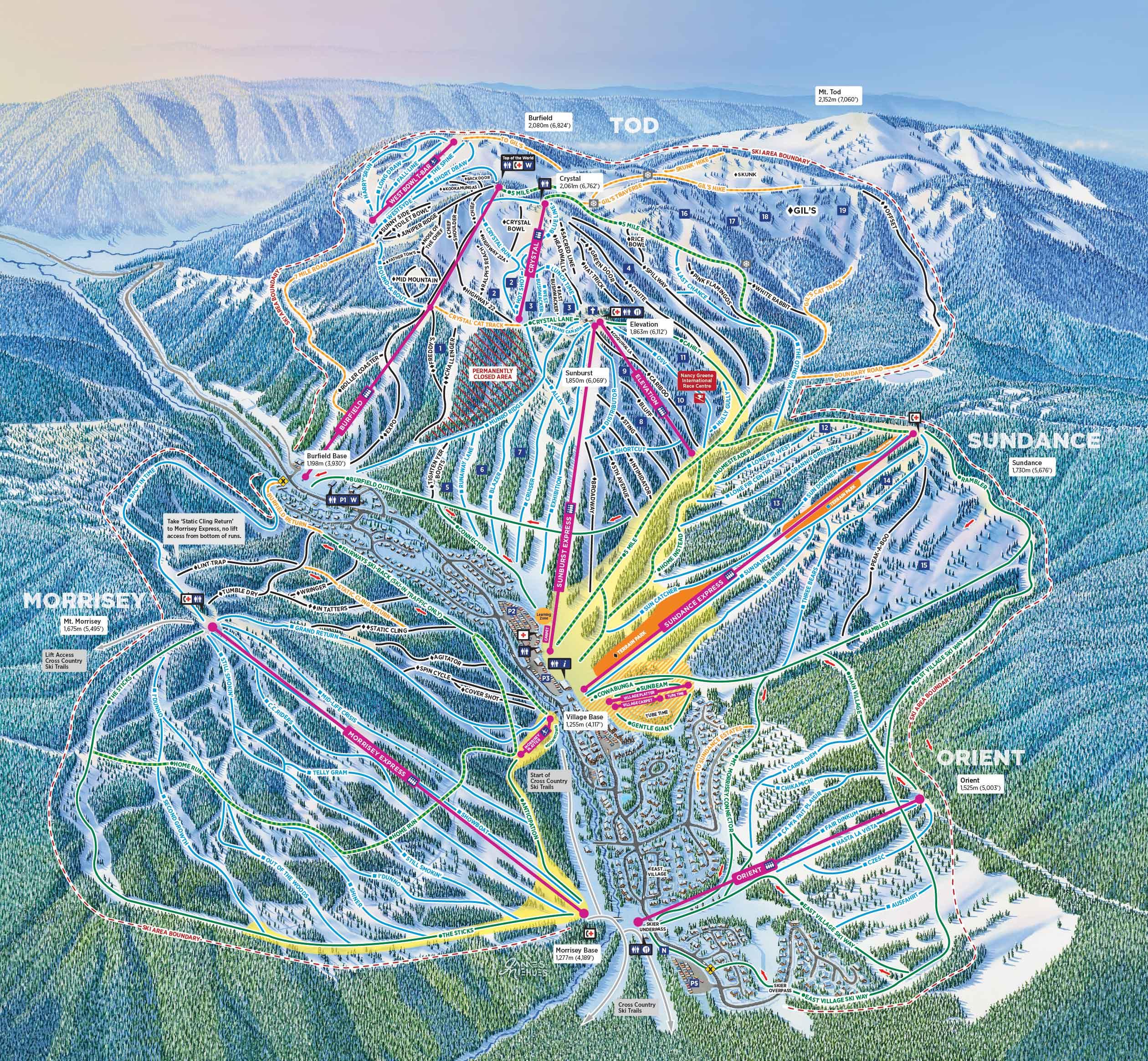 Trail Maps & Stats | Sun Peaks Resort