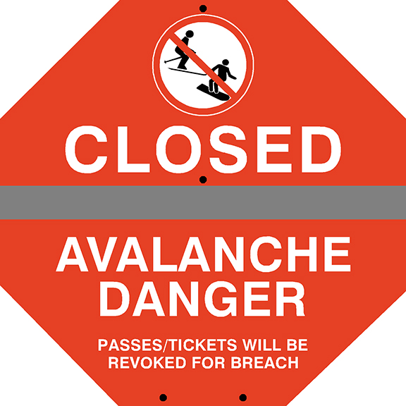 Closed Avalanche Danger
