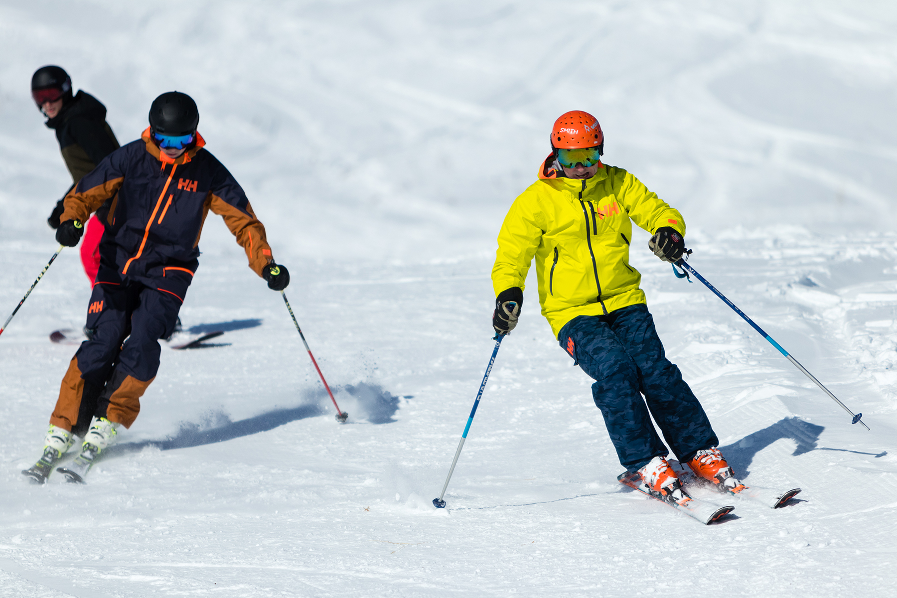 Skiers on Opening Day