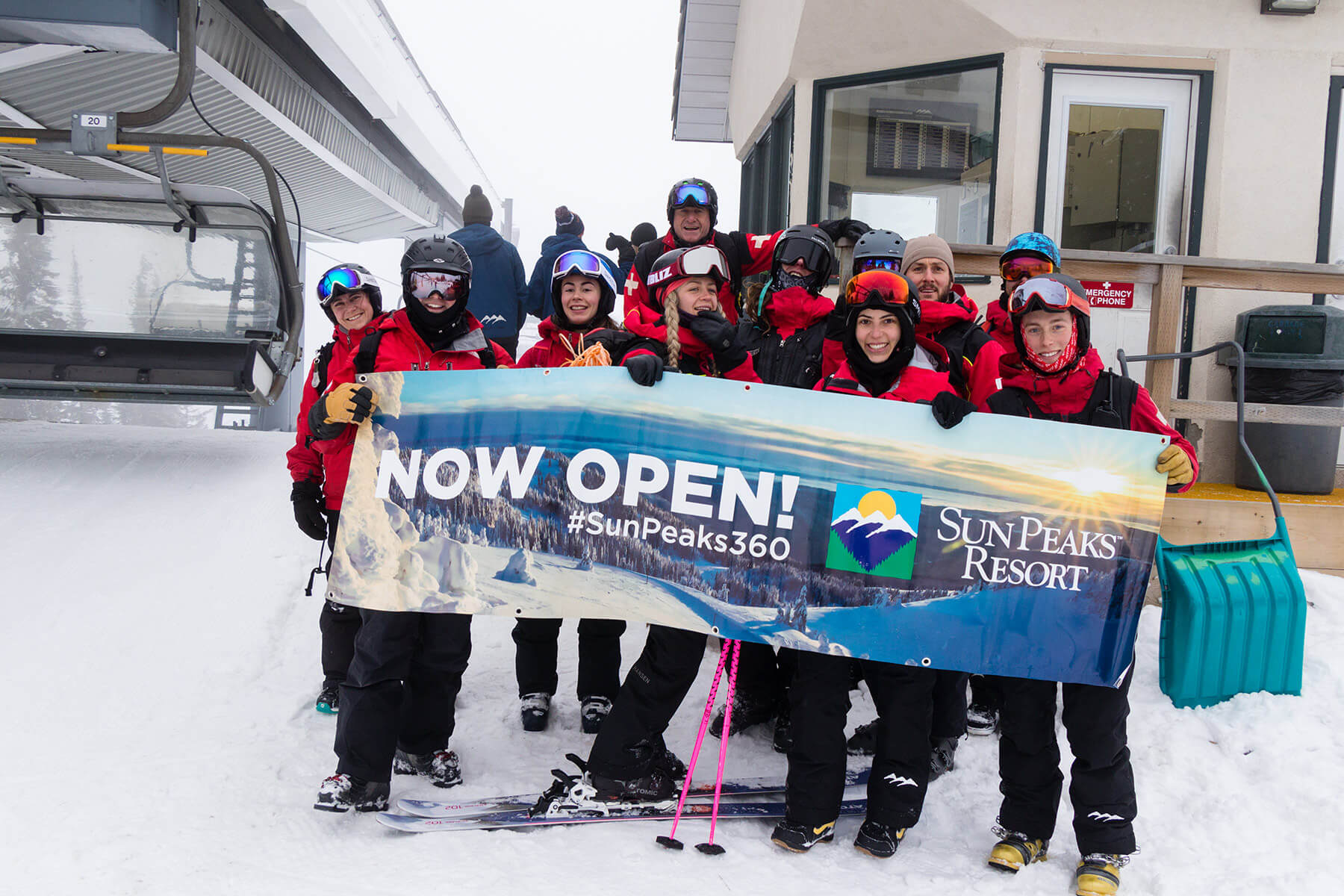 Ski Patrol on Opening Day at Sun Peaks Resort