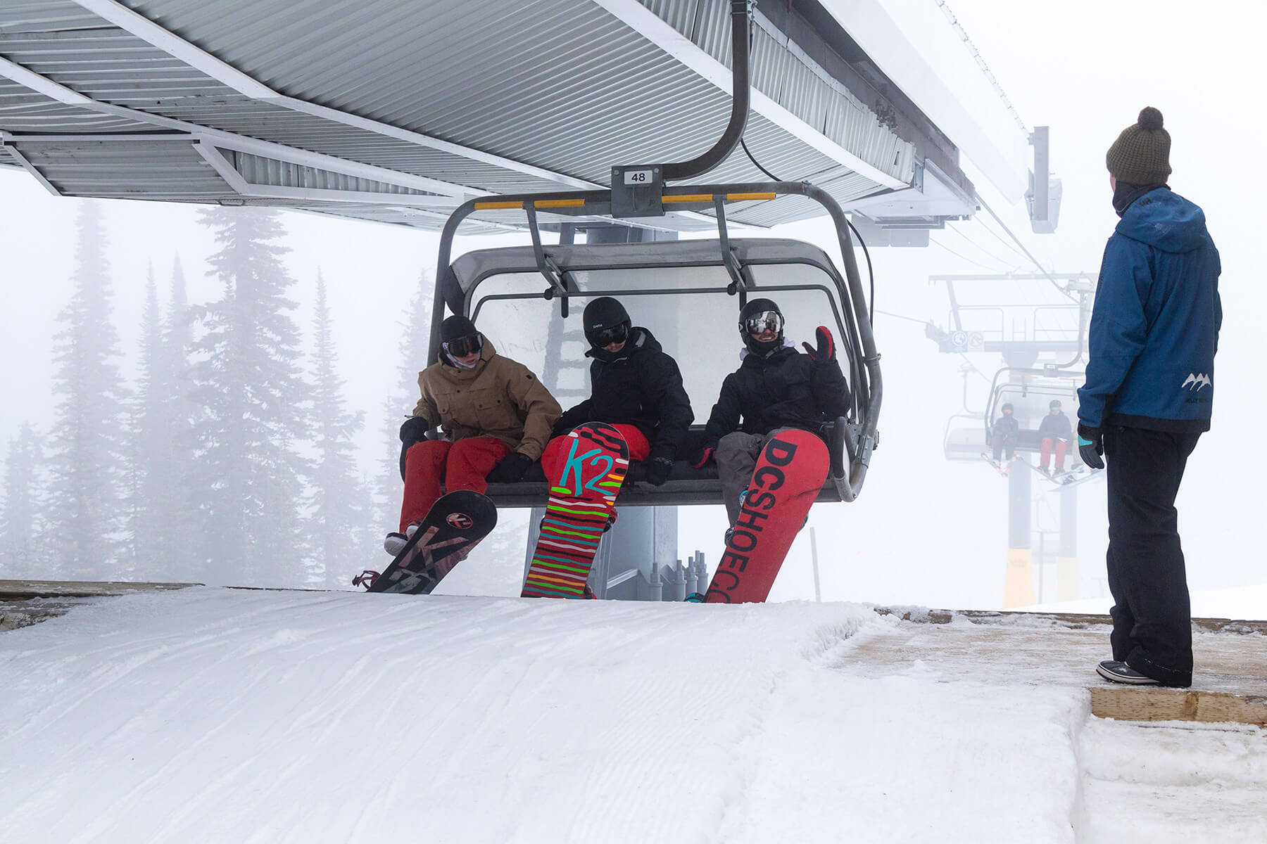 Chairlift on Opening Day at Sun Peaks Resort