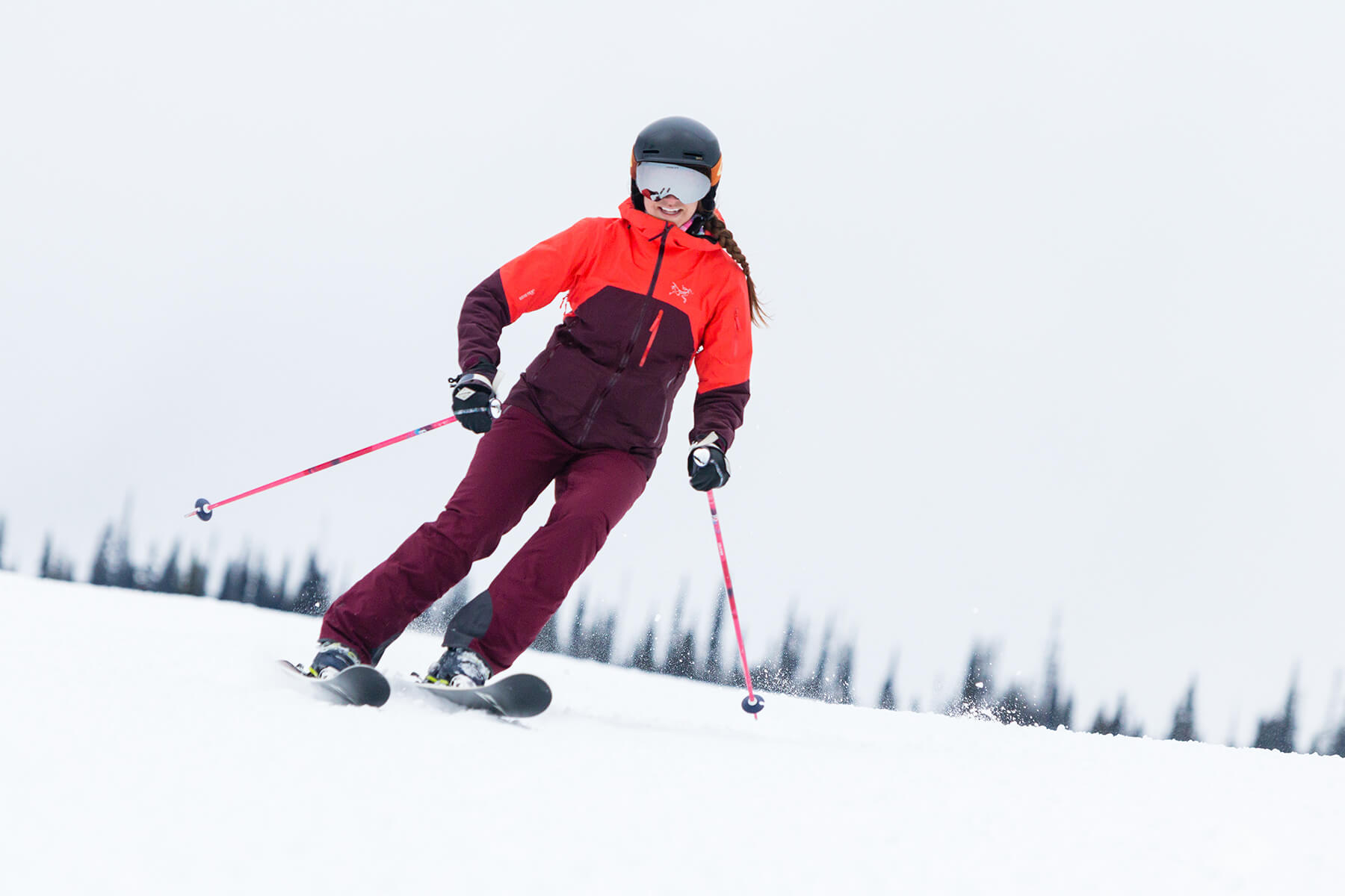 Skiing on Opening Day at Sun Peaks Resort