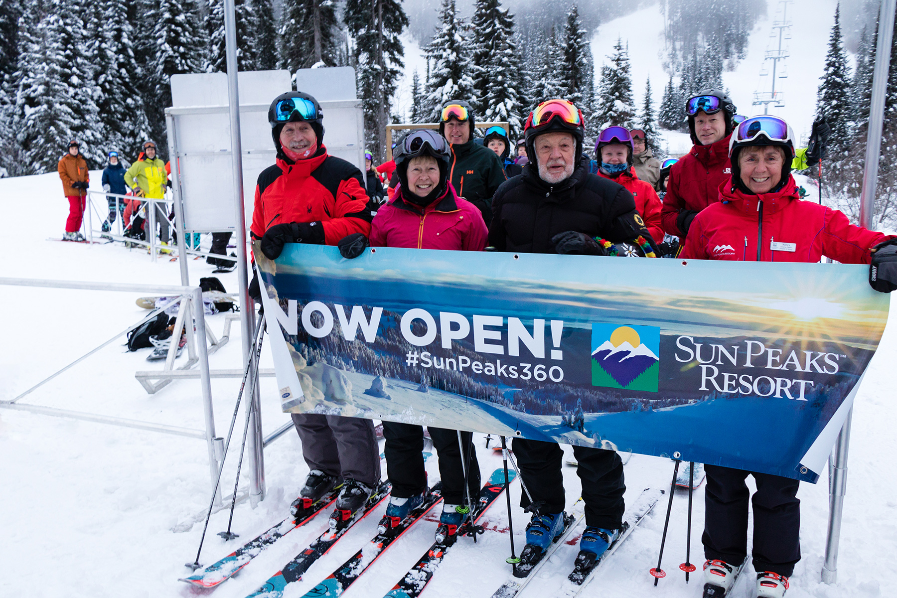 Now Open Banner at the Orient Chairlift