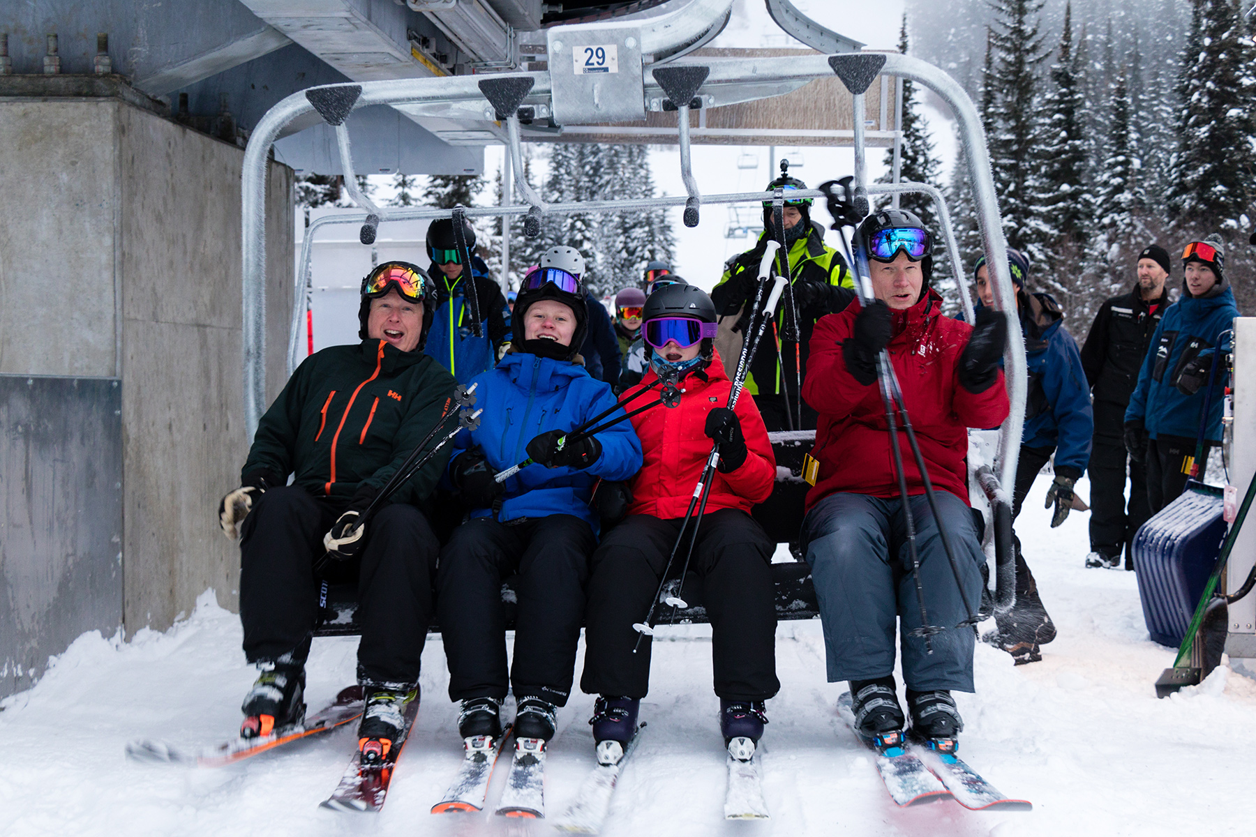 Guests on the Orient Chairlift