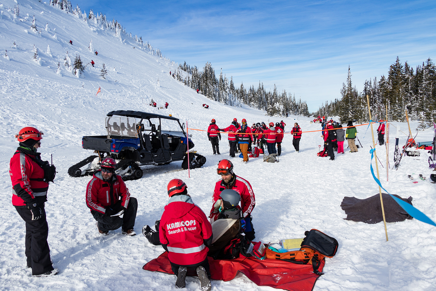 Avalanche Training Scenario at Sun Peaks Resort
