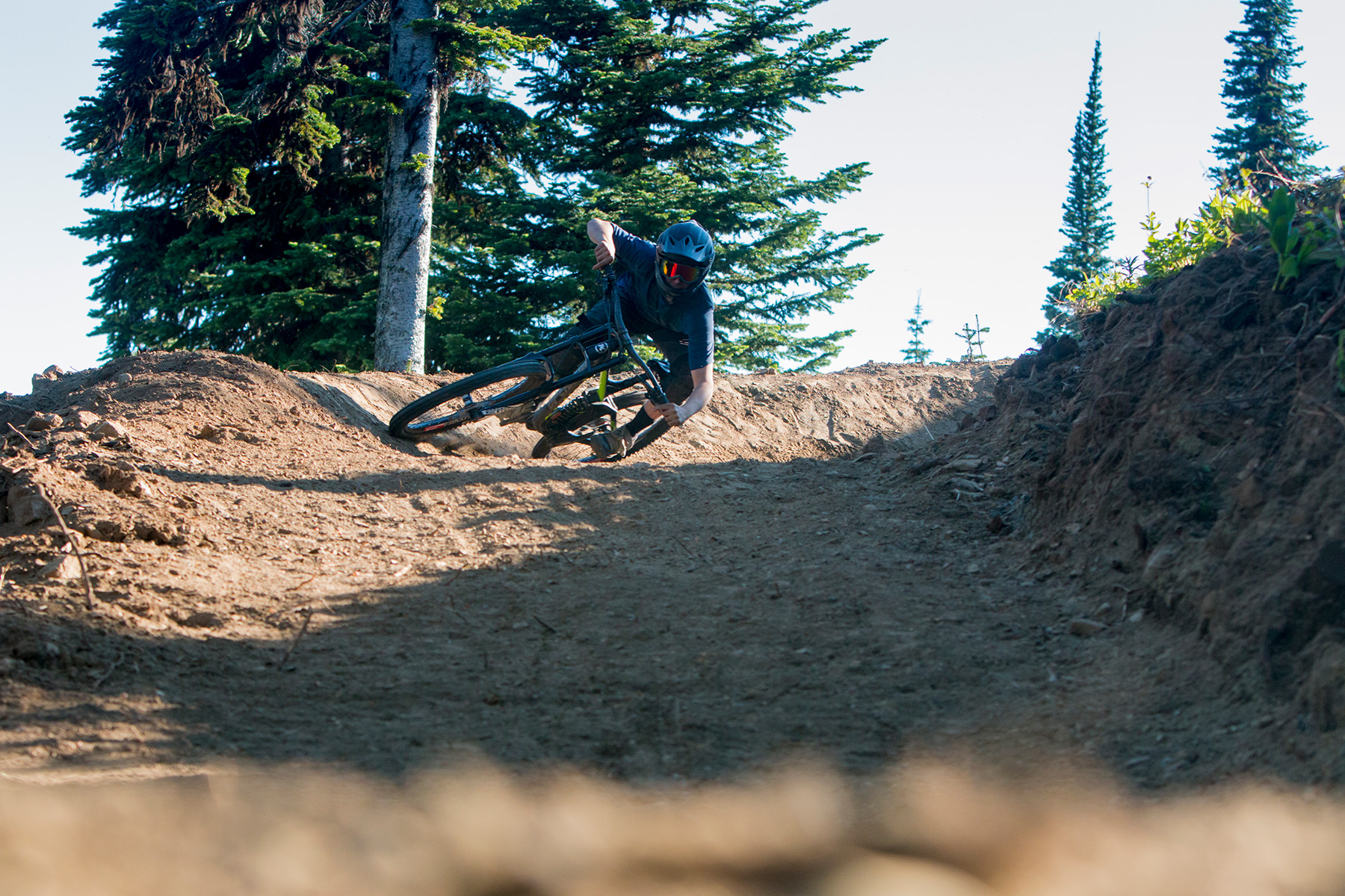 Rider on Route 66 at Sun Peaks Bike Park