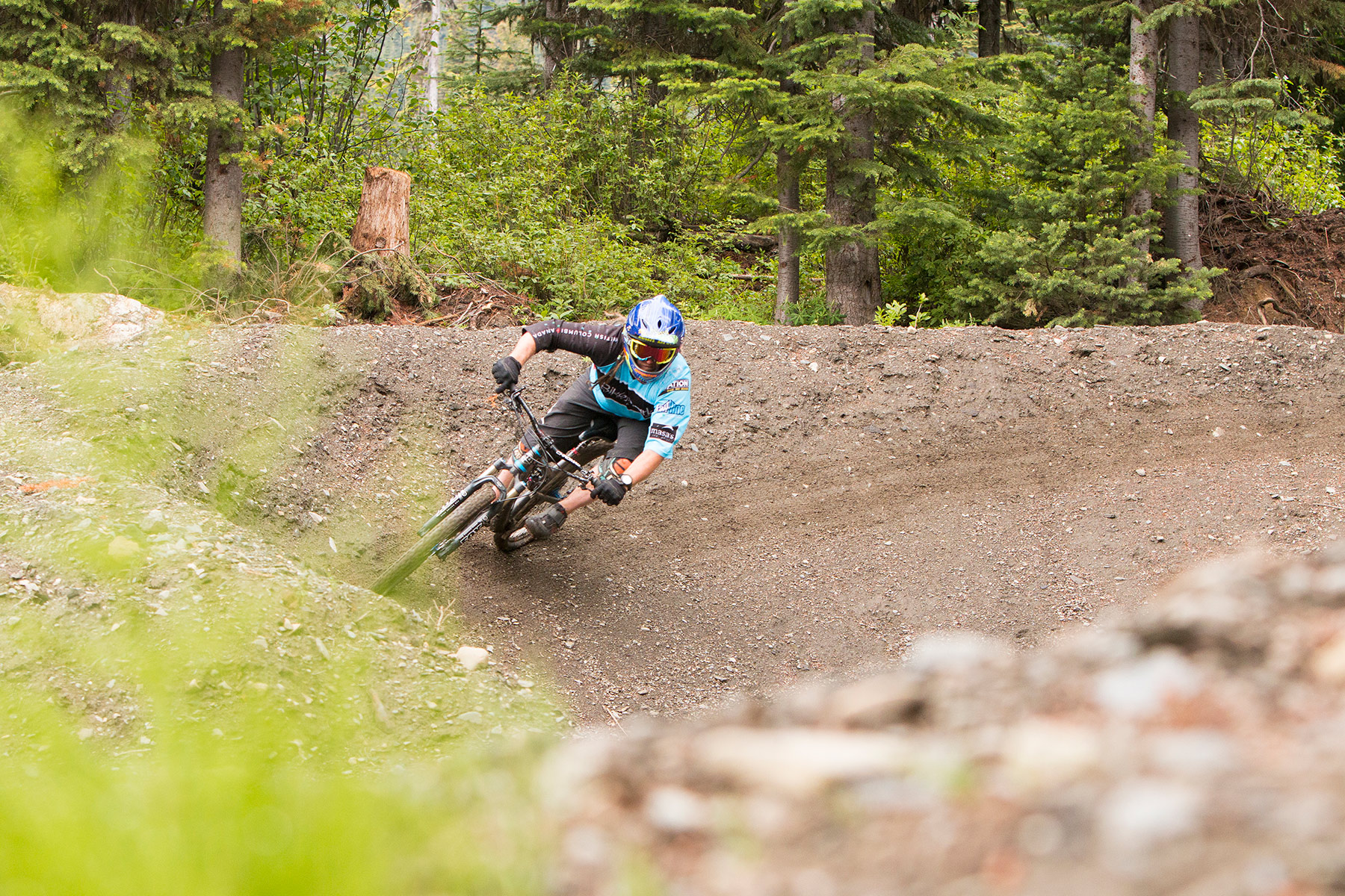Rider at Sun Peaks Bike Park