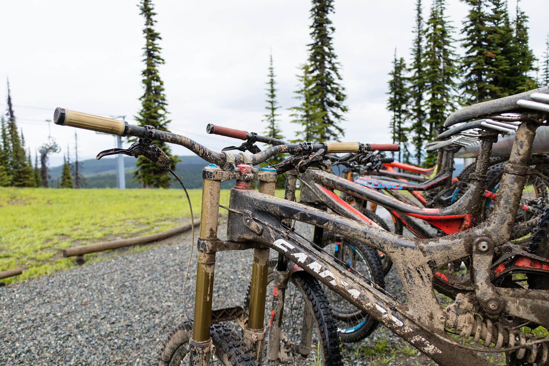 Muddy Bikes at Sun Peaks Bike Park