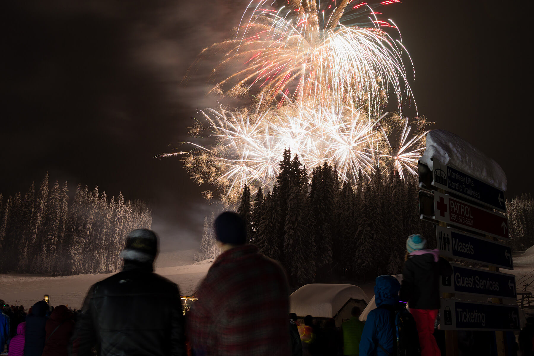 New Years Eve Fireworks at Sun Peaks Resort