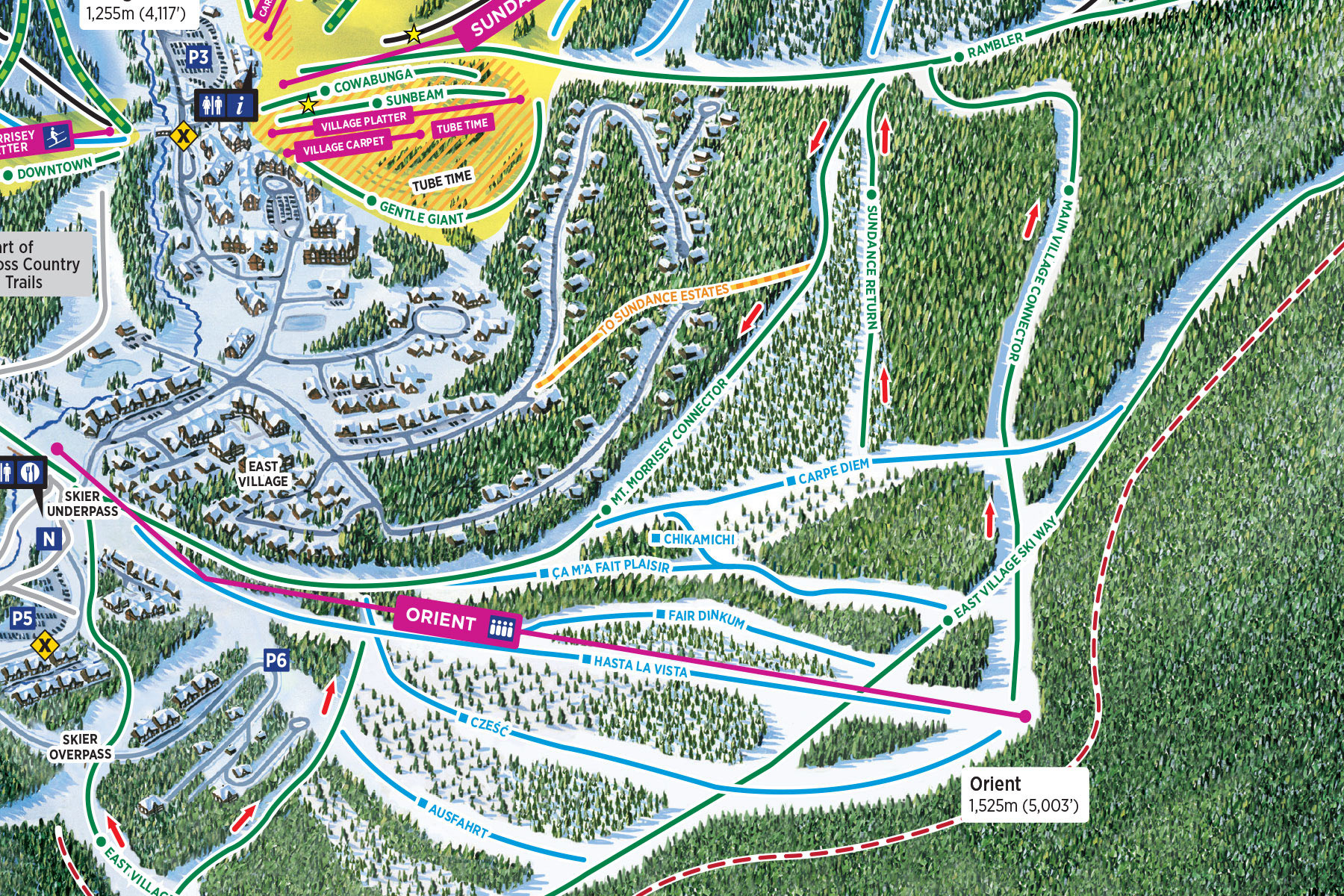 New Runs on Orient Ridge at Sun Peaks Resort