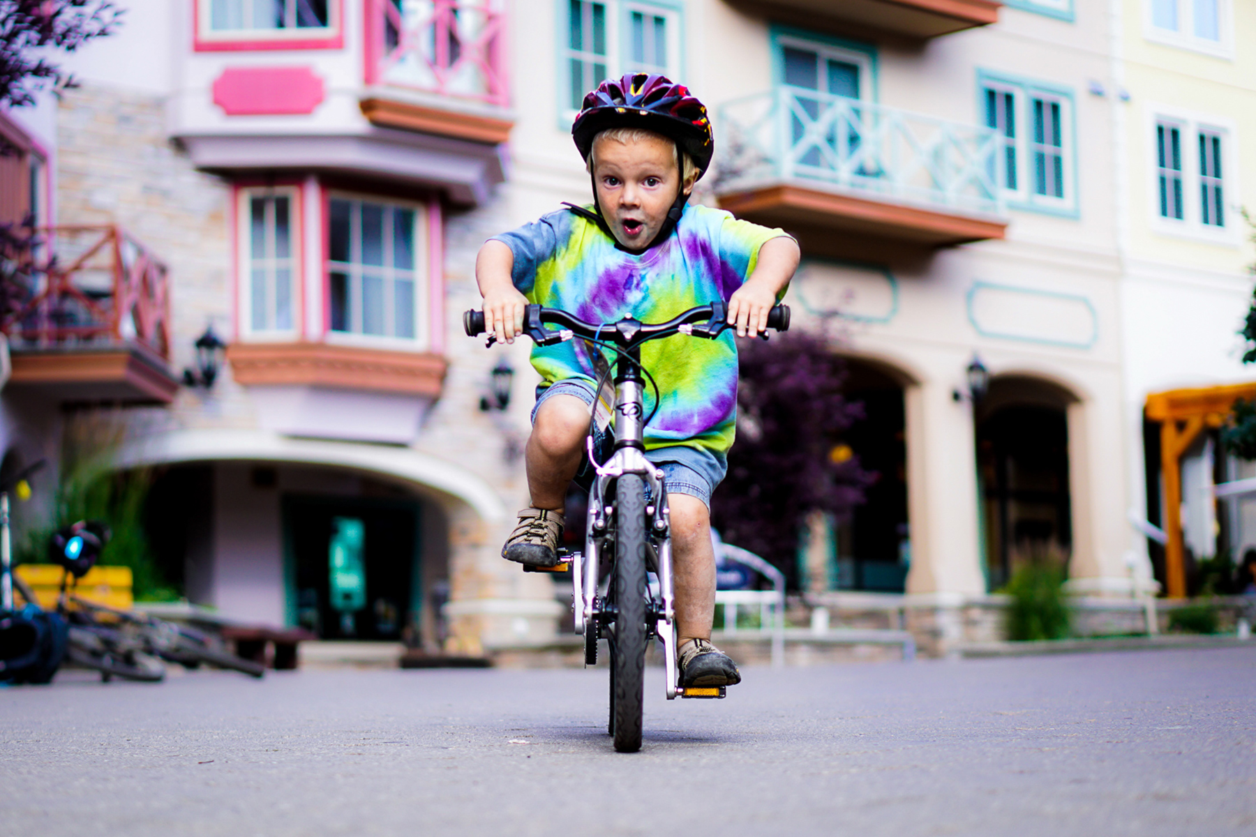 Peak of the Season - Young kid riding bike