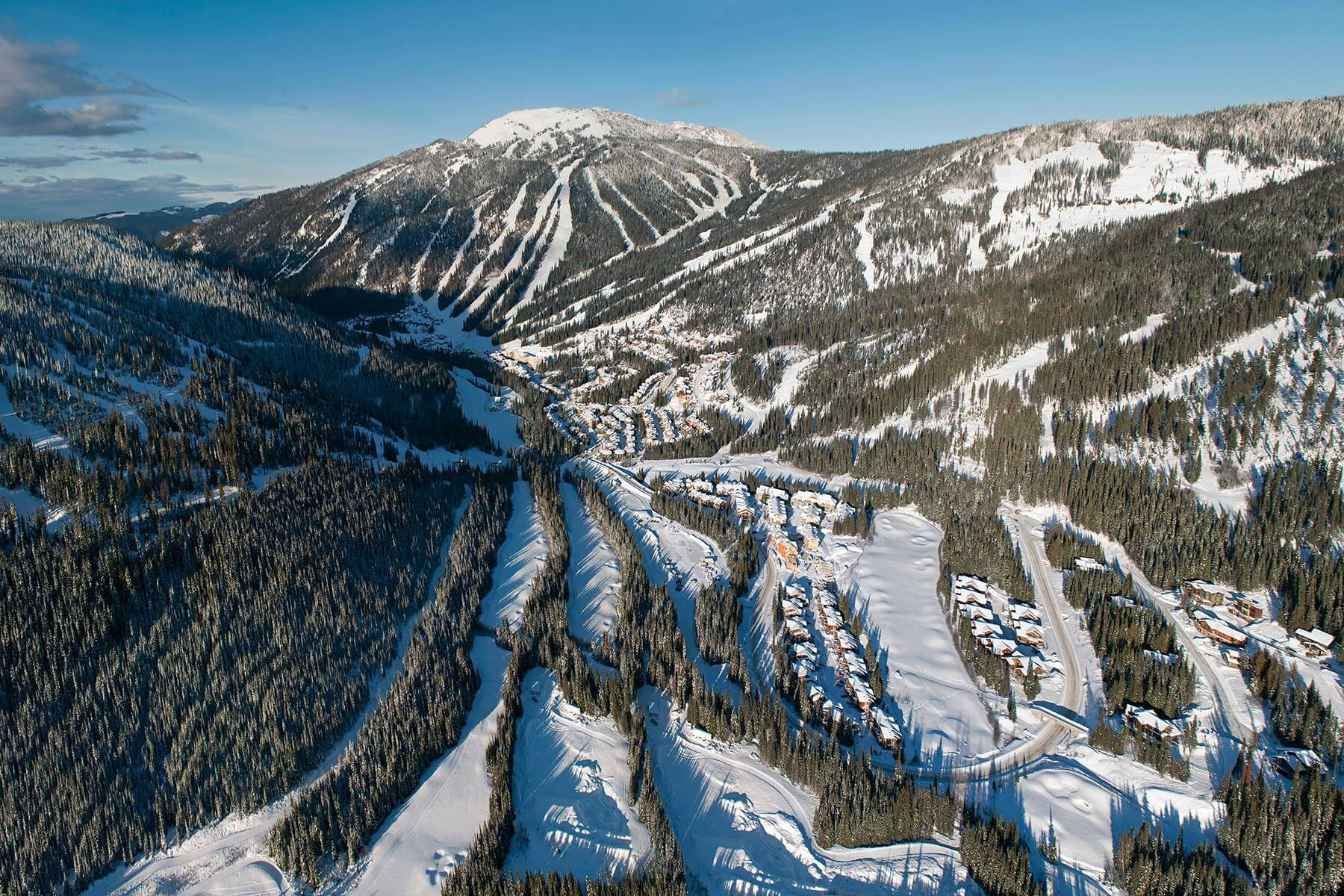 Aerial Shot of Sun Peaks Resort