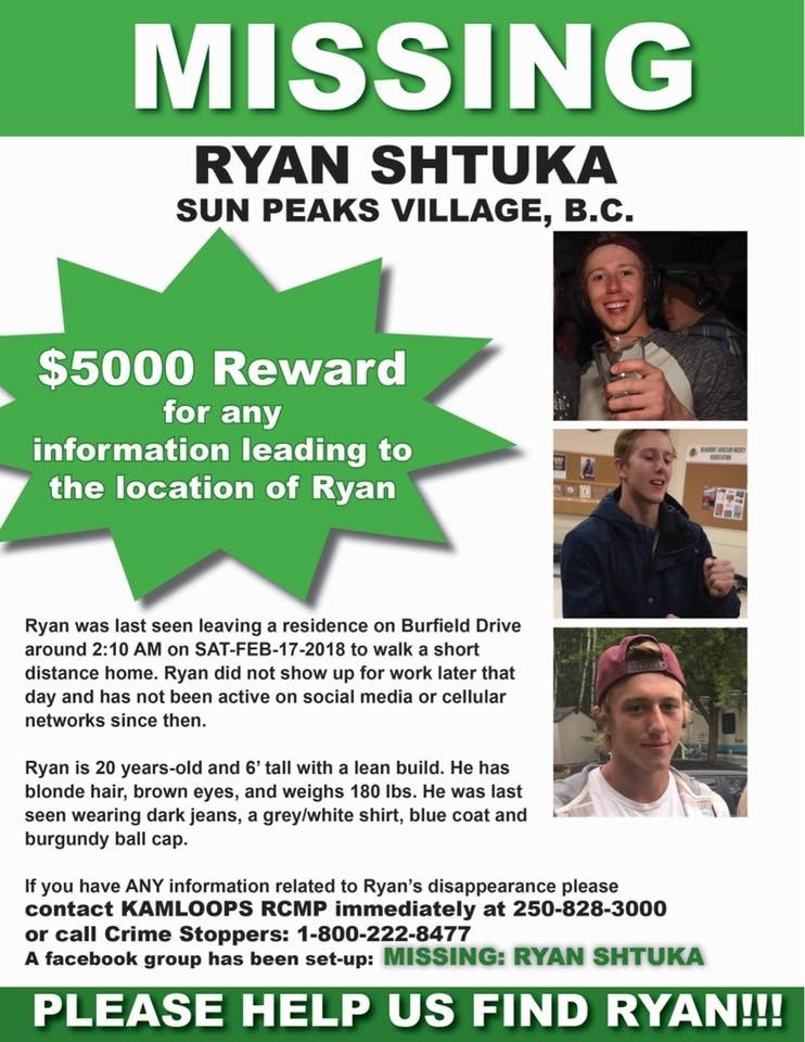 Ryan Shtuka Missing