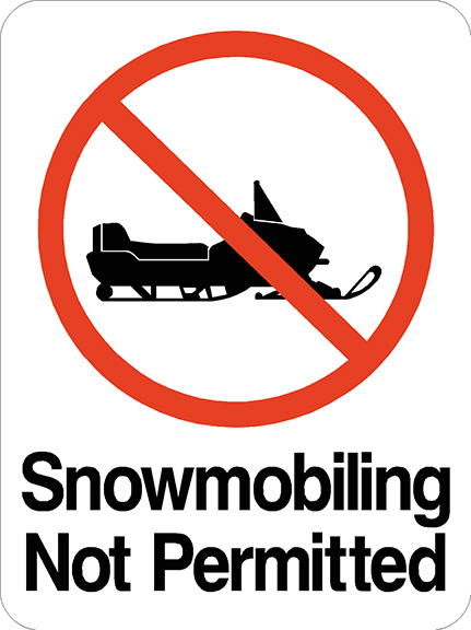 Snowmobiling Not Permitted