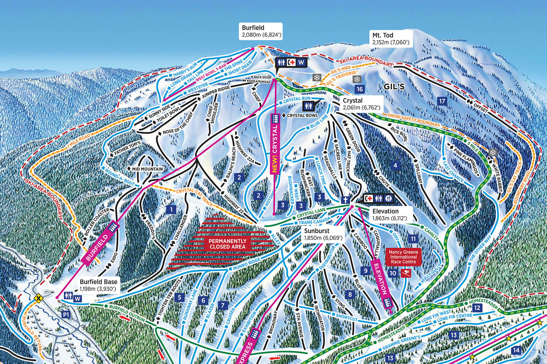 Crystal chairlift replacement to be complete for the 2020/21 winter season.