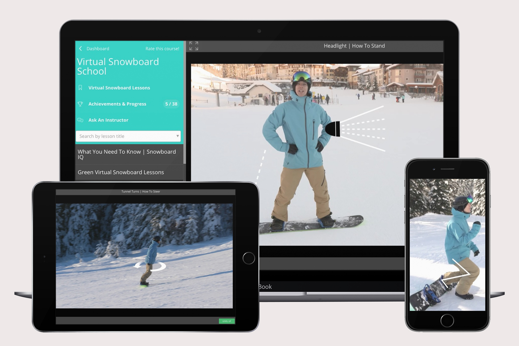 Watch and Ride virtual snowboard school