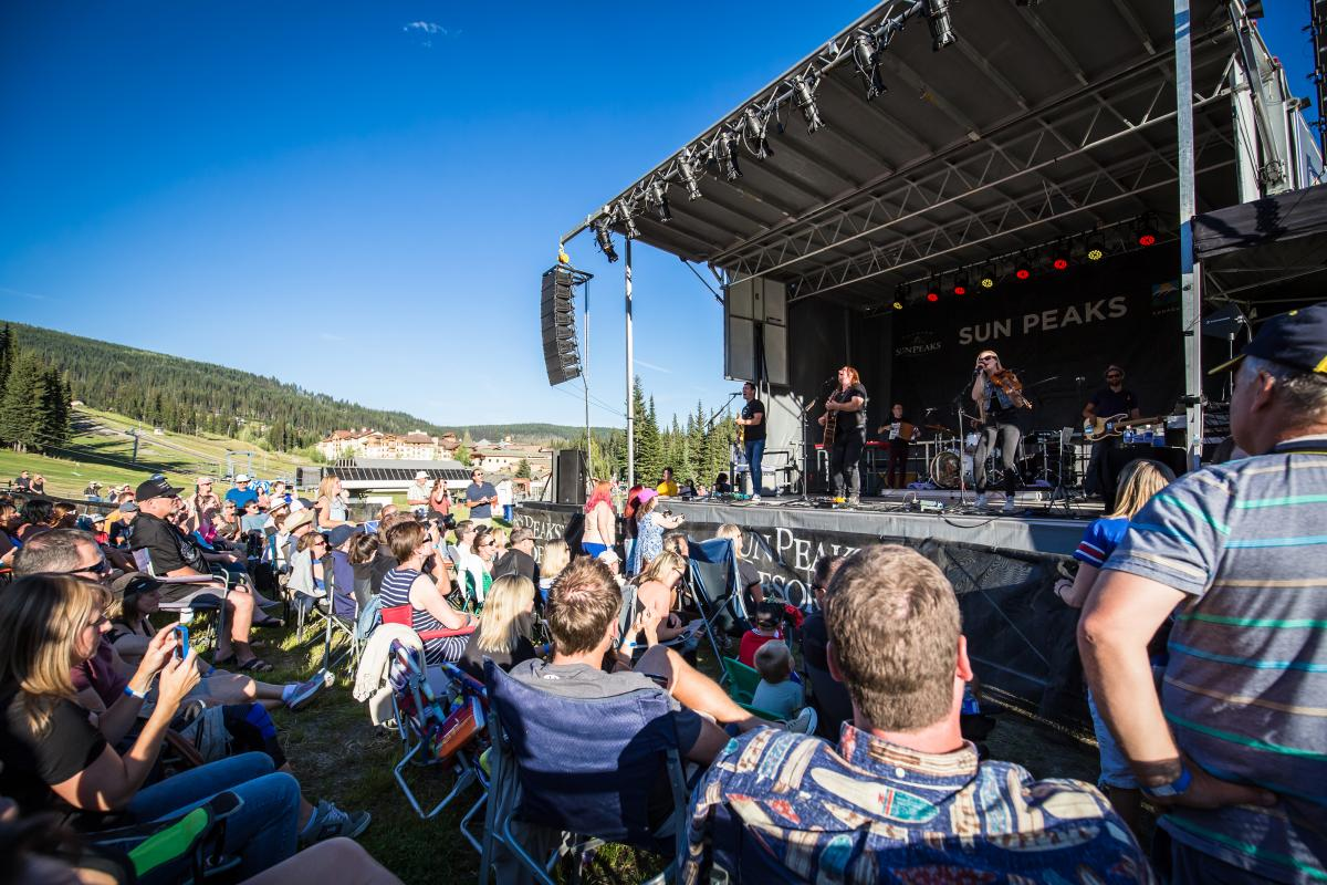 Sun Peaks' natural outdoor amphitheatre hosts free outdoor concerts every summer