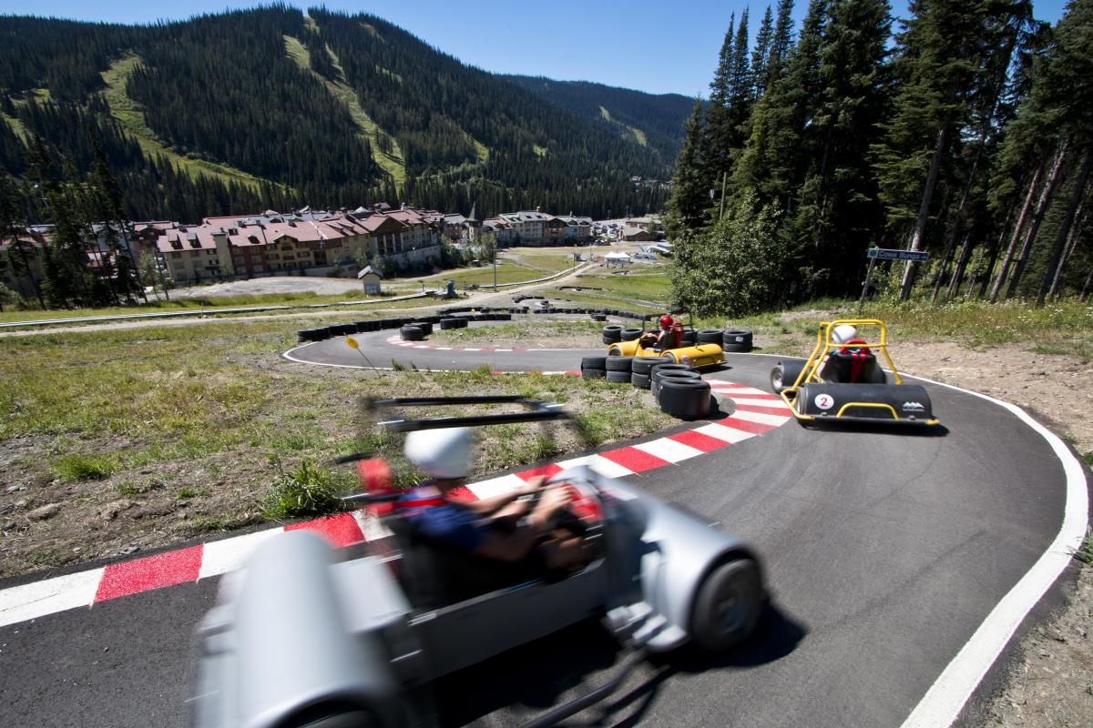 Race the clock for the fastest time and bragging rights on North America's first Mountain Cross Cart course!