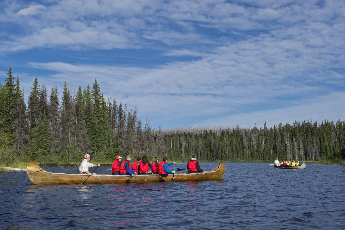 Revel in the past while paddling through the Sun Peaks high country on a Voyageur Canoe Tour