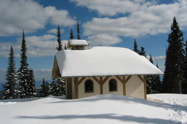Mid Mountain Chapel in winter
