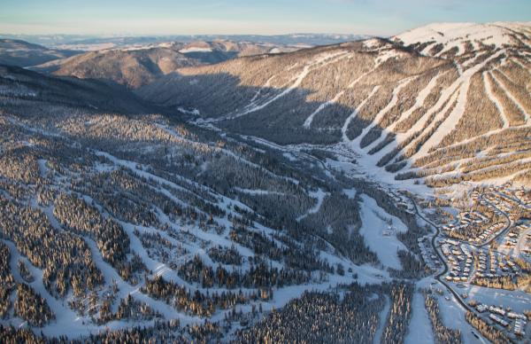 Aerial photo, Sun Peaks Resort